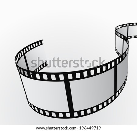 film reel moving abstract background 3d  - stock vector