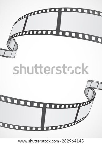 film reel strip abstract frame background design - stock vector