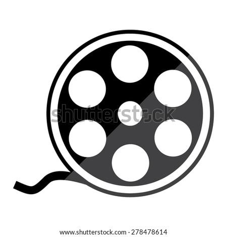 film reel vector icon stock vector 278478614 shutterstock rh shutterstock com movie reel vector movie reel vector