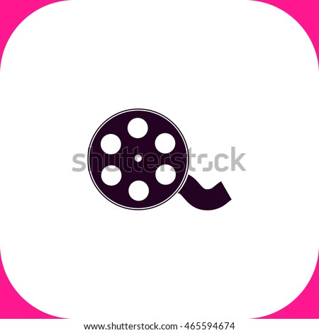 film reel vector icon on white stock photo photo vector rh shutterstock com film reel vector icon film reel vector download