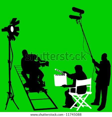 film set vector - stock vector