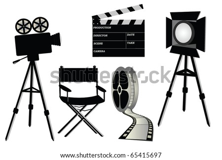 film set, vector - stock vector