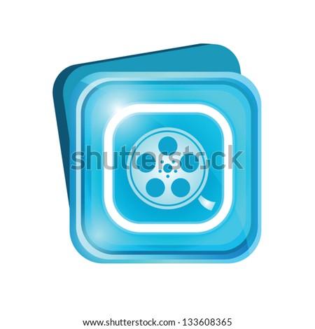 Film sign - stock vector