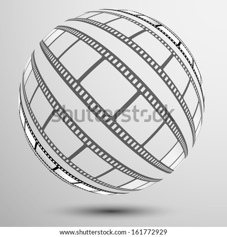 film, sphere - stock vector