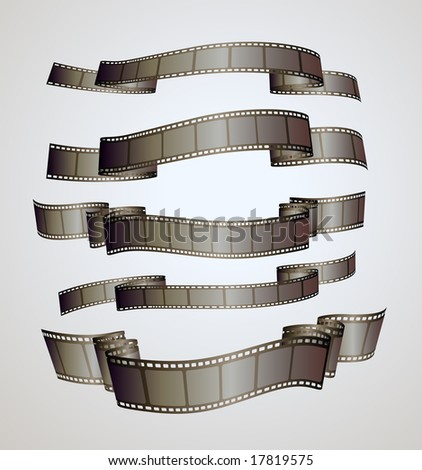 film strip banners - vector - stock vector