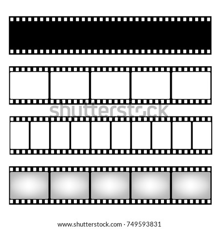 Film strip collection. Vector template. Cinema frame