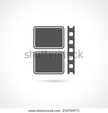 film strip icon - logotype design element - stock vector