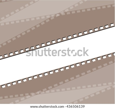 Film strip illustration - stock vector