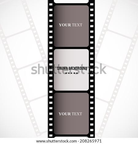 Film strip illustration. Base for poster. VECTOR. - stock vector