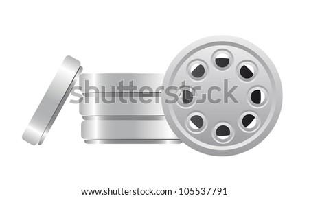 film strip isolated over white background. vector illustration - stock vector