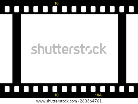 film strip ready to be filled with pictures. Photography concept - stock vector