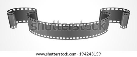 Film strip ribbon vector illustration - stock vector