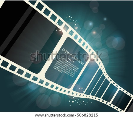 Film strip roll. Vector cinema background.