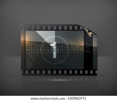 Film strip, vector - stock vector