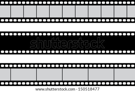 film strip vector stock vector 2018 150518477 shutterstock rh shutterstock com film strip vector png vector film strip free