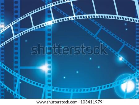 Film strip vector background - stock vector