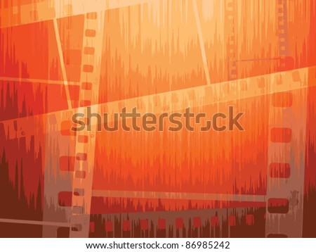 Film strip vector background - stock vector