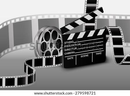 Film strip. Vector illustration - stock vector