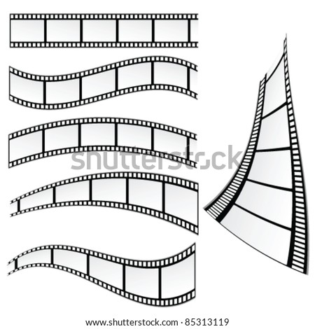 film strip vector illustration on white background - stock vector