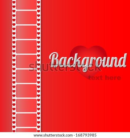 Film stripe background - stock vector