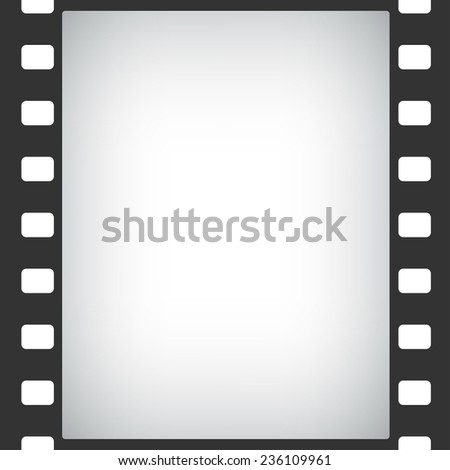 film stripe frame abstract background - stock vector