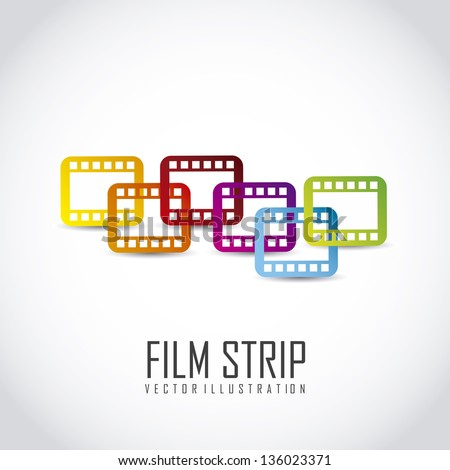 film stripe over gray background. vector illustration - stock vector
