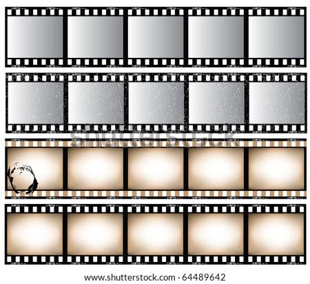 Film strips - stock vector