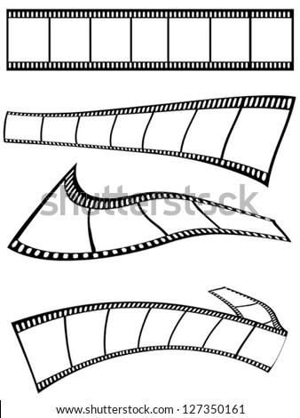 film strips design - stock vector