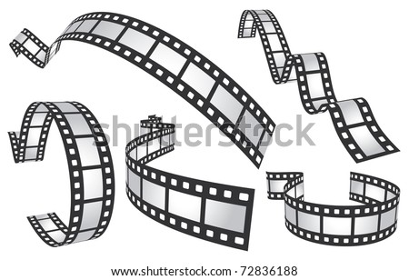 film tapes - stock vector