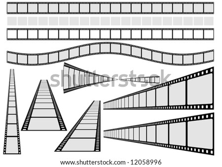 Film Vector Set - Film and Background grouped and separated. - stock vector