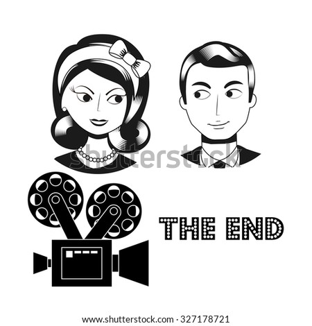 filmed entertainment design, vector illustration eps10 graphic  - stock vector