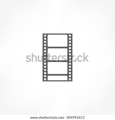 filmstrip icon - stock vector