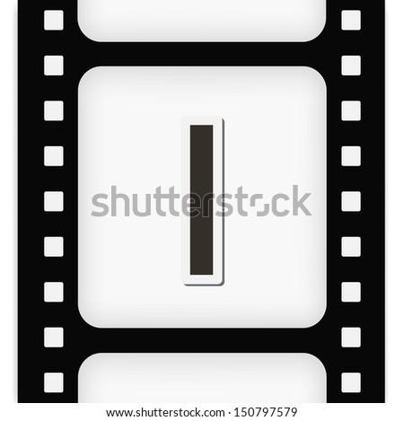 Filmstrip  the letter I - stock vector