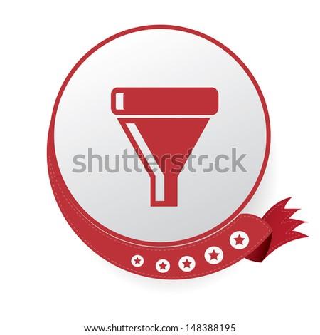 Filter symbol,vector - stock vector