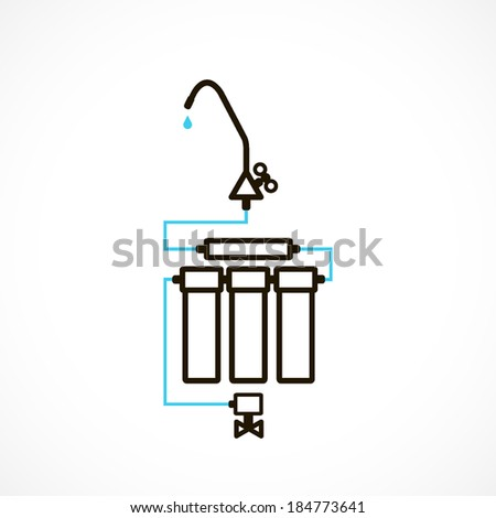 filters to purify your drinking water, icon isolated on a white background for your design - stock vector
