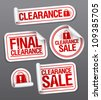 Final clearance sale stickers. - stock photo