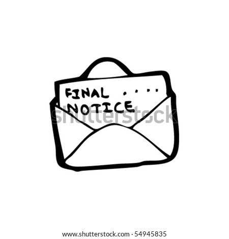 Final Notice Letter Cartoon Stock Vector   Shutterstock