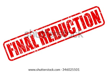 FINAL REDUCTION red stamp text on white