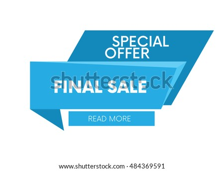 Final sale, special offer web banner and poster, background. Read more place. Vector illustration.