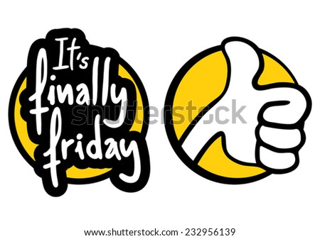 Finally friday - stock vector