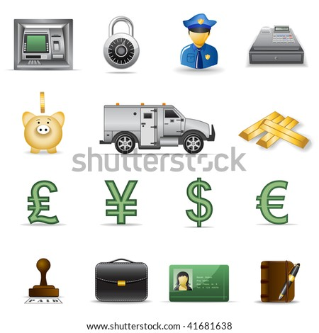Finance and banking icons set 3