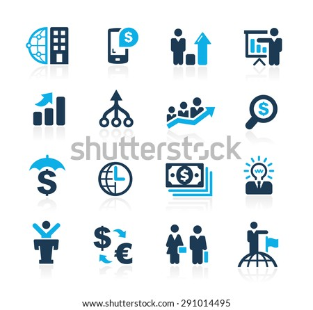 Finance and Business Strategies // Azure Series - stock vector