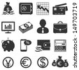 Finance and business vector icons set - stock vector