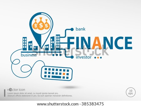 Finance and marketing concept. Finance concept for application development, creative process. - stock vector