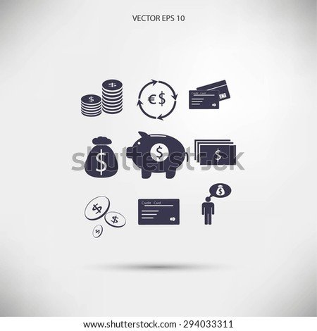 Finance and money icon - stock vector