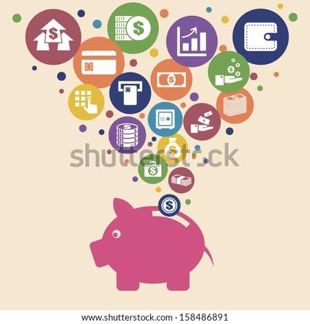 Finance and money .Illustration eps10 - stock vector