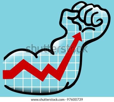 finance arm - stock vector