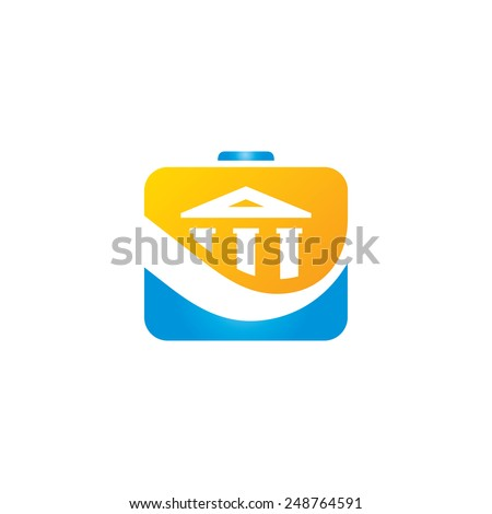 Finance bank portfolio vector sign Branding Identity Corporate logo design template Isolated on a white background - stock vector