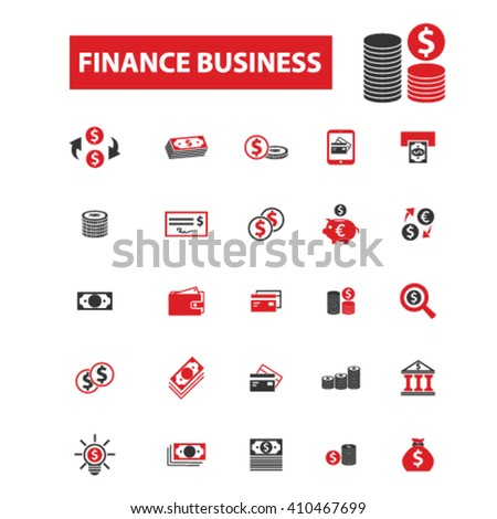 finance business icons  - stock vector