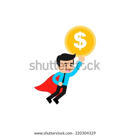 Finance Character Logo Template